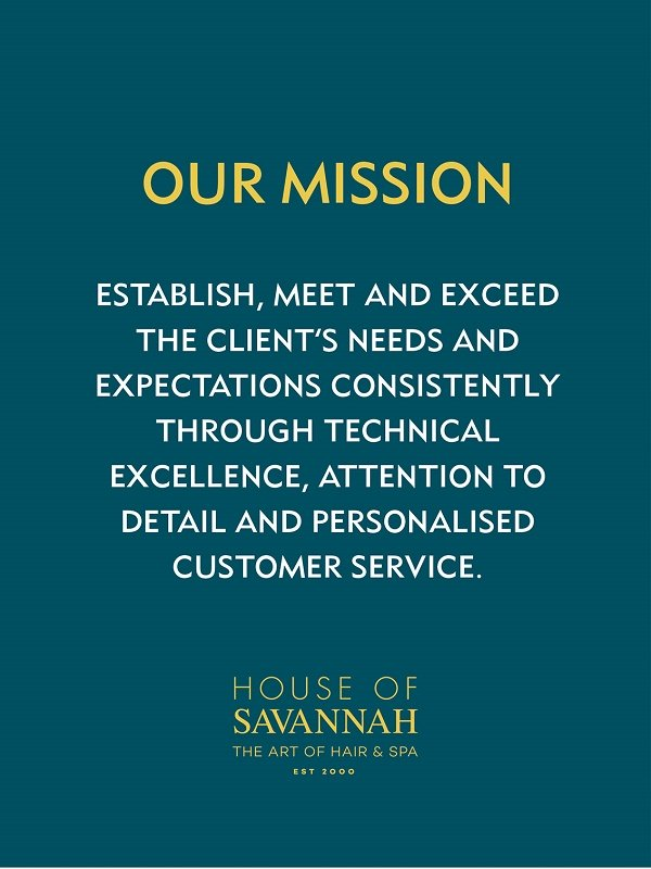 Cancellation policy house of savannah salon spa newcastle for A mission statement for a beauty salon